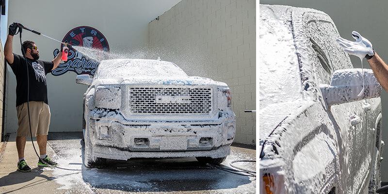 Cách rửa xe bằng bình bọt tuyết