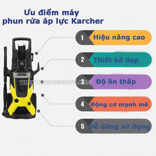 Ưu điểm nổi bật của máy rửa xe Karcher