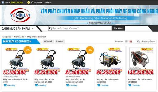 Máy rửa xe Eurotech được bán phổ biến