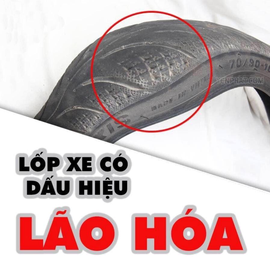 Lốp xe có dấu hiệu bị lão hóa