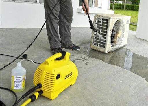 Máy rửa xe mini cho khả năng làm sạch điều hòa hiệu quả