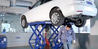 cầu nâng ô tô cắt kéo