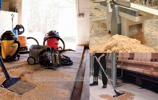 máy hút bụi công nghiệp cho xưởng gỗ